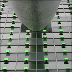 Support (Karin van Bragt) Tags: city abstract detail reflection green dutch metal closeup architecture grey lights rotterdam support groen  kopvanzuid glas architectuur metaal lichtjes grijs sigma70300apomacro instantfav kpngebouw canon400d steuntje teigert aglitchinthesystemanabstractviewofdailylife teigert zien