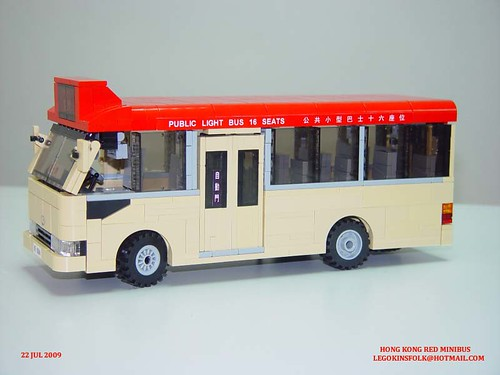 Hong Kong Red Minibus built by LEGO