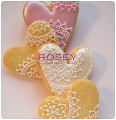 Happy Hearts 1 (rosey sugar) Tags: happy heart decoration royal sugar celebration icing piping weddingfavours sugarcraft decorativecookie