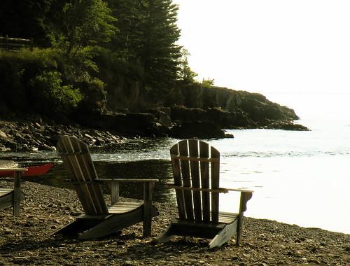 Lake Superior, Lutsen, Minnesota. Perfect reading spot.