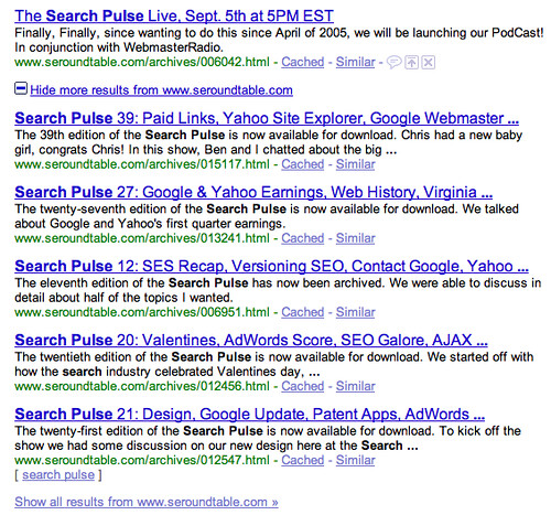Google Show More Results Plus Sign