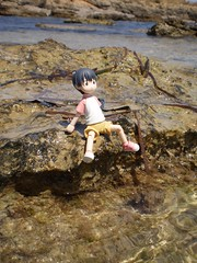 Miura Hayasaka (Lnovell7) Tags: sea anime sol beach toy toys actionfigure mar manga playa figure mallorca yotsuba revoltech jfigure escarnatge miurahayasaka