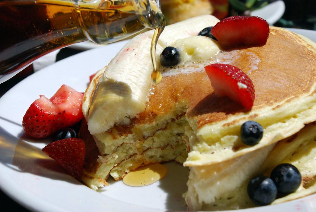 ricotta pancakes @ five leaves...