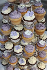Lilac, White & Silver Wedding Cupcakes (ConsumedbyCake) Tags: wedding white tower college cakes cookies cake fruit silver hearts sussex cupcakes worthing brighton blossoms lilac cupcake cutting hydrangea venue hydrangeas placecard consumedbycake