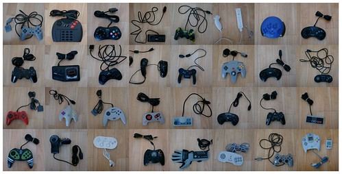 A bunch of game controllers...