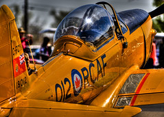 Royal Canadian Air Force HDR (hz536n/George Thomas) Tags: oklahoma airplane spring engine canadian airshow yelow stillwater 2008 hdr prop radial rcaf smrgsbord cs3 photomatix canon30d ef300mmf4lisusm