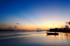 2009-09-04 (-benson- ) Tags: blue sunset sea nature taiwan wharf   blackcard taipeicounty