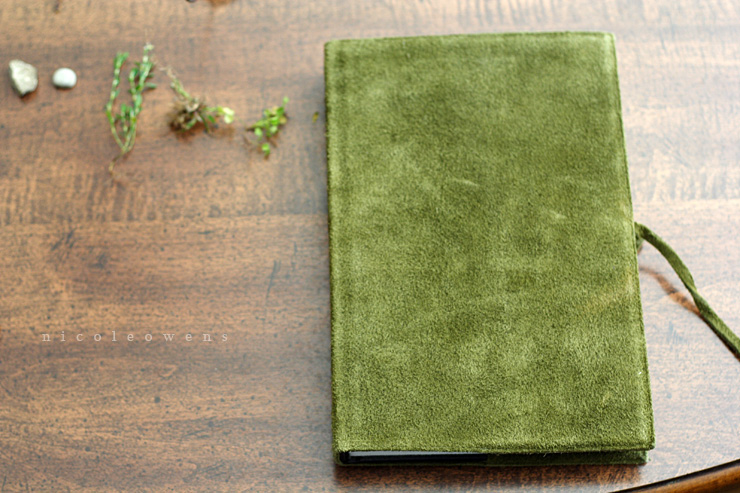 moss colored field journal