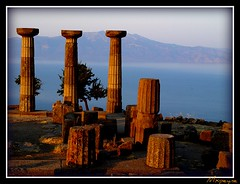 Temple of Athena (Assos) (mxpeyne) Tags: travel art history turkey greek ancient ruin olympus best trkei athena archeology mythology zuiko assos turchia turkei behramkale