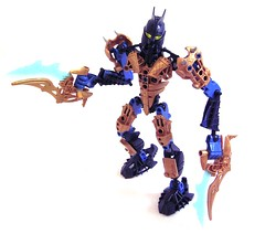 Tarix - front (the BCth) Tags: water set beard mod fighter lego hero elegant modification bionicle gladiator moc tarix glatorian