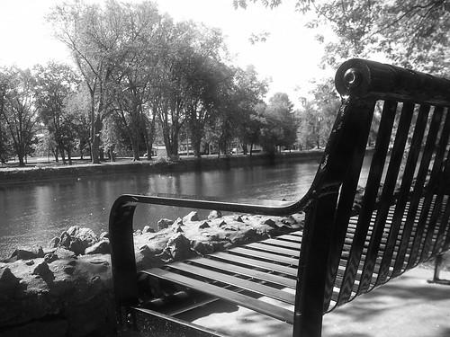 Bench overlooking Speed River by matt-wren