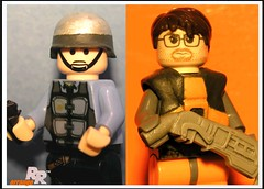 LEGO HALF-LIFE (ORRANGE.) Tags: life blue lego shift steam gordon half shotgun barney freeman
