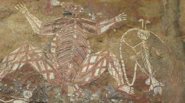 Rock art, Nourlangie, Kakadu Park