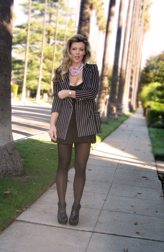 lbd-striped-ungaro-blazer-polka-dot-tights-wedges-1