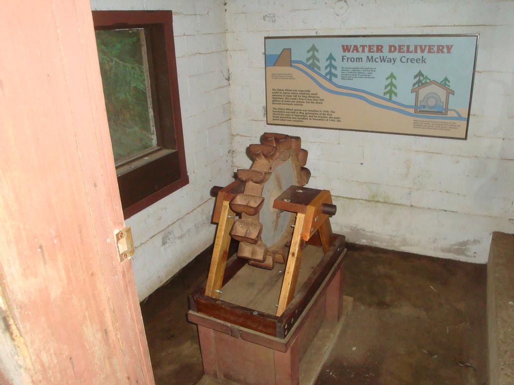 Pelton Wheel Model Display Julia Pfeiffer Burns Park