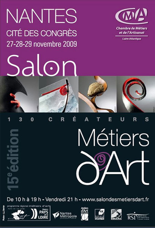 Flyer Salon Métiers d'Art de Nantes - 2009