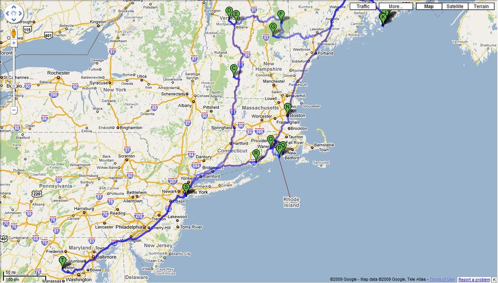 New England Trip summary