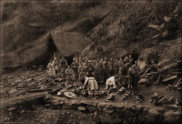 Mouth Of Coal Mine In Mountain Ridge West Of Ta Chu, China MAR [1909] Thomas C. Chamberlin [RESTORED]