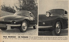 Paul Maurisse And DB Panhard (glen.h) Tags: france cars vintage actors fifties db 1950s actor 50s magazines panhard parismatch paulmaurisse