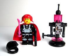 Pinktron Commander and Medical Droid (Moctagon Jones) Tags: art robot lego space droid moc pinktron moctagonjones