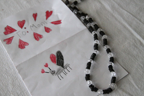 card & necklace