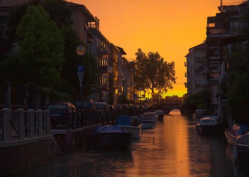 Лидо-Венеция. Закат.