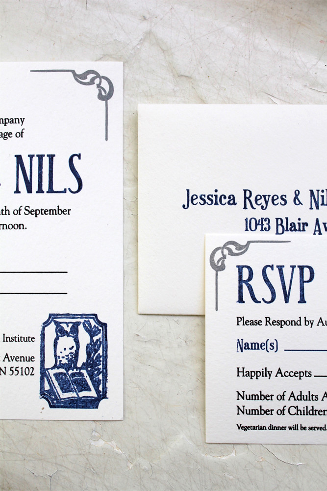 Jess & Nils Library Wedding