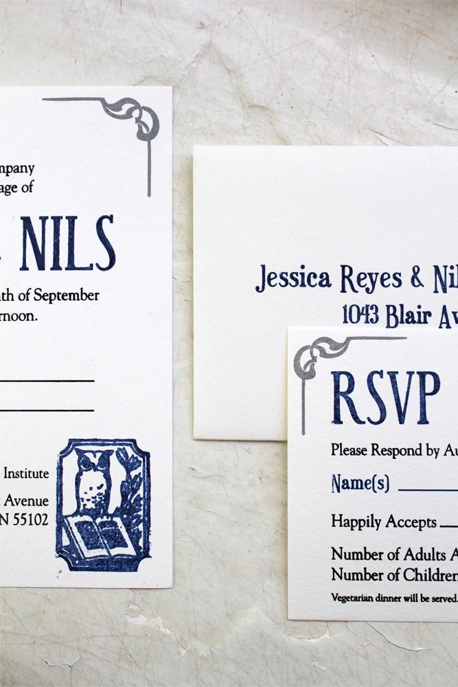 Jess & Nils Library Wedding