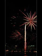 Portland Rose Festival Fireworks 1 (David Gn Photography) Tags: oregon portland downtown waterfront fireworks portlandrosefestival canonpowershotsx1is