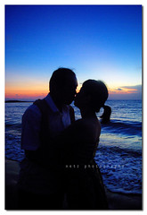 couple (memet metz) Tags: wedding bali beach photography kiss couple romantic metz kuta prewedding baliphotographer shilouthe