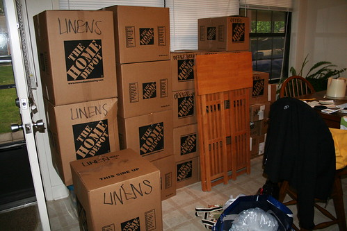 moving boxes--from 1 room!