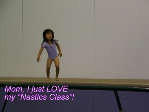 June 09 First Gymnastics Class 051