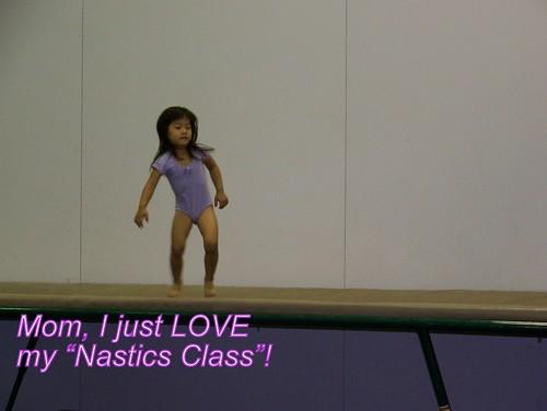 June 09 First Gymnastics Class 051