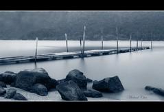(Micartttt) Tags: camera sea bw lake water digital landscape island pier photo blackwhite nikon scenery rocks asia southeastasia foto photographer hill malaysia tropical bayview penan