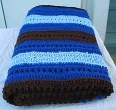 Blue and Brown Baby Boy Crochet Blanket 4 (DonidoDesigns) Tags: blue baby brown handmade crafts crochet knit craft lap homemade blanket afghan etsy knitted crocheted crafting cic lapghan cicteam craftingincolor