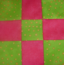 Three by Three Swap GreenPink