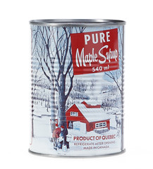Traditional Can of Maple Syrup