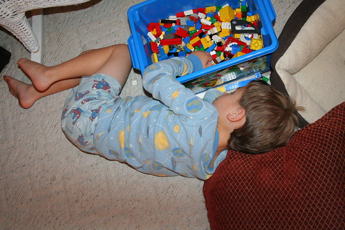 Asleep at the Legos