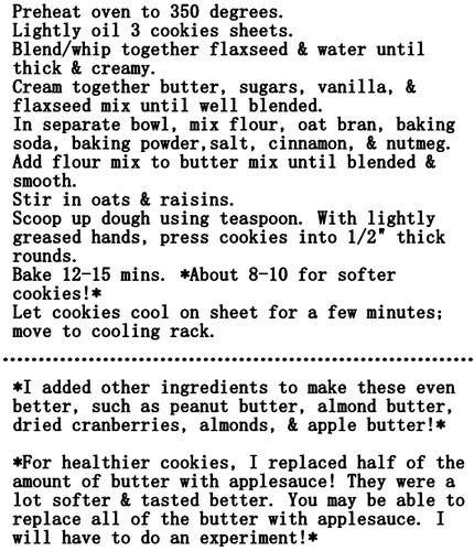 Cookie recipe...