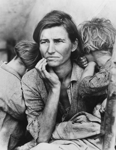 Dorothea Lange (Migrant mother )