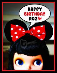 [ 52 Weeks Of Music & Blythe 19 / 52 ] : Happy (belated) Birthday, Roz!