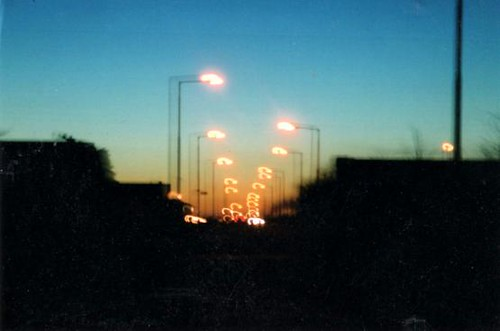 Blurred street lights, Cork