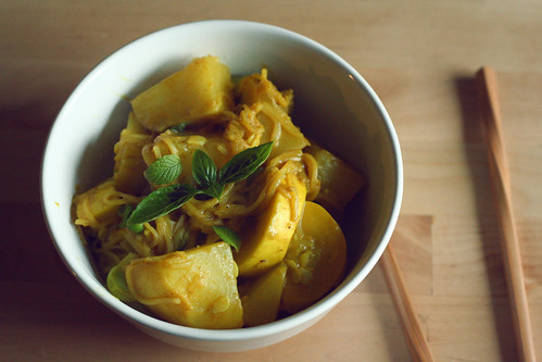 what's for dinner? // curried turnips & summer squash
