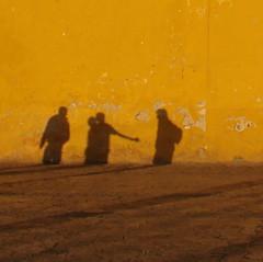 Rebel shadows / Sombras rebeldes (ix 2015) Tags: shadow muro yellow wall mxico square mexico pared shadows cathedral catedral sombra amarillo amarelo gelb chiapas sombras sancristobaldelascasas squart 10x10 5x5 cuadrado cuadrada amarige israfel67 theturntable