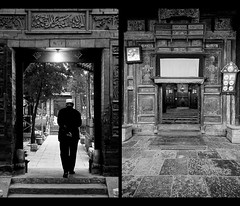 Evening Prayer 01 (davidfattibene) Tags: china bw composition temple lifestyle mosque xian nikkor 50mmf14d bnvitadistrada bncittà