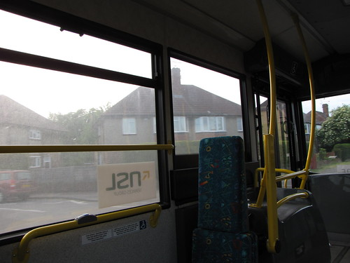 On the shuttle bus to Gatwick