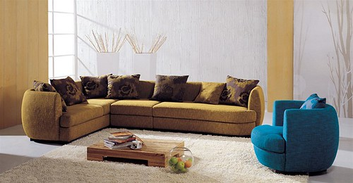 Martino Microfiber Sectional Set S111