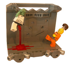 Peek-A-Boo! (~Tac~) Tags: lego zombie space peekaboo be to couldnt arsed spacezombies greeble postapocaspace