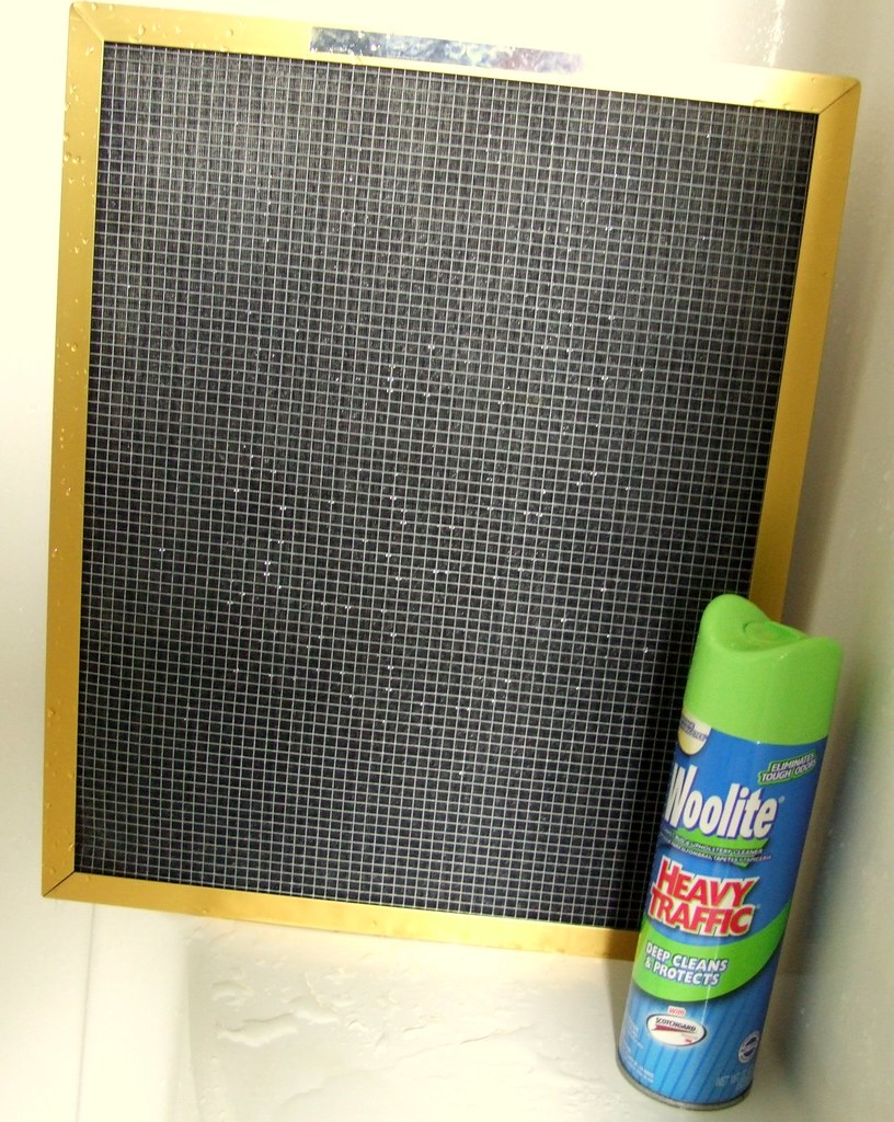 how to clean a reusable a/c filter