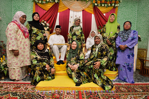 With Bride's mother and aunties